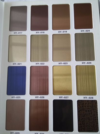 Top Quality Stainless Steel Colored Plates Sheets PVD Plating Brown, Rose Gold, Grey, Wine Red, Bronze, Gold, Black Titanium and So on pictures & photos