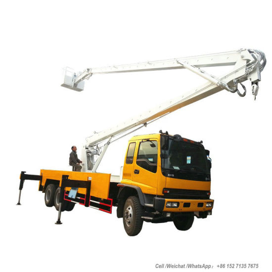 Isuzu-6X4 Truck Mounted Aerial Work Platform 24m