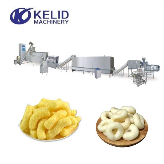 China Automatic Puffed Snack Food Extruder Making Machine
