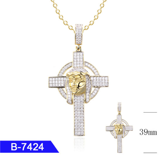 3c2213c4bda New Arrival Handcrafted Fashion Men′s Jewelry Sterling Silver Hip Hop CZ Cross  Pendant for