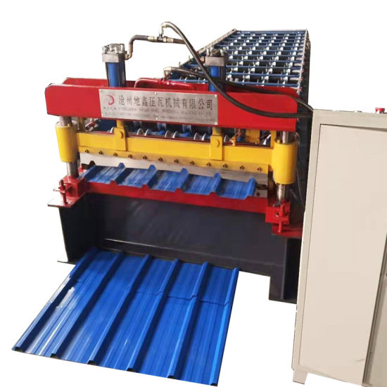 China Color Steel Ppgi Trapezoidal Metal Roofing Sheet Roll Forming Machine Design Manufacture China Roll Forming Machine Forming Machine