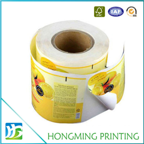 picture about Sticker Printable Paper titled China Tailor made Print Roll Packing Paper Adhesive Label - China