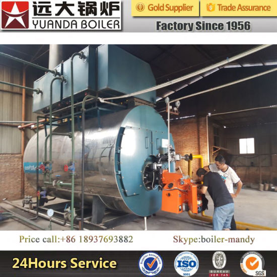 China Gas Oil Boilers 1-25 Tph Hot Water Steam Boiler Fire Tube Type ...