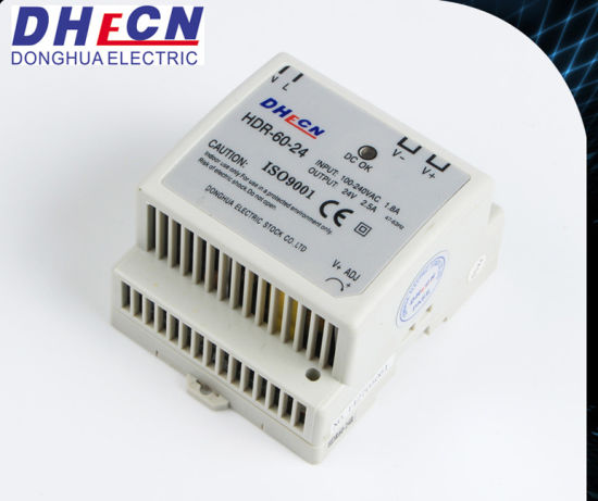 60W Single Output DIN Rail Power Supply pictures & photos