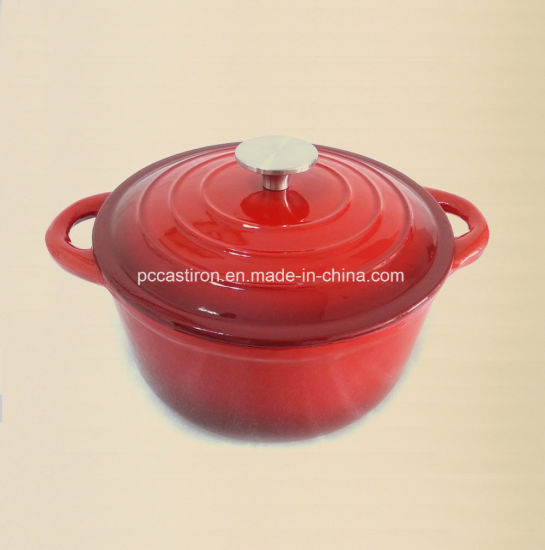 5.5L 3.5L 2.8L Enamel Cast Iron Casserole with Ss Knob pictures & photos