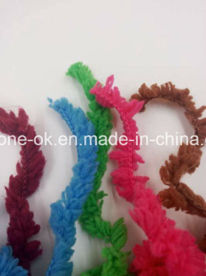 Microfiber Hand Knit Soft Baby Fancy Knitting Feather Yarn pictures & photos