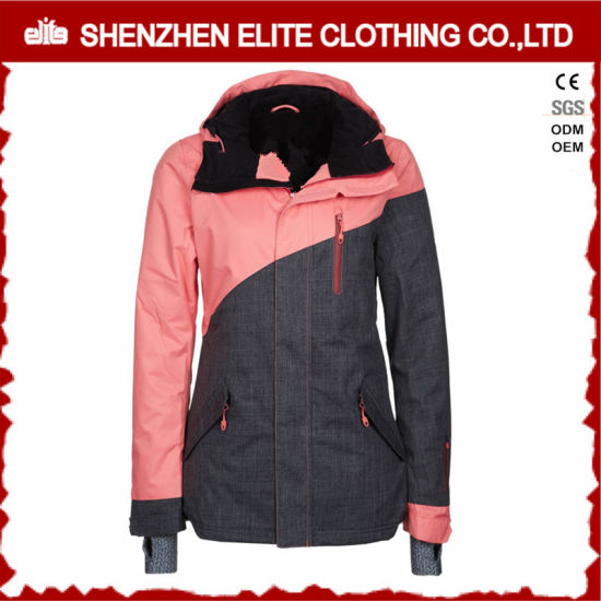 9c4d2501709c Pink and Grey Fashion Winter Ski Jacket for Girls (ELTSNBJI-51) pictures &