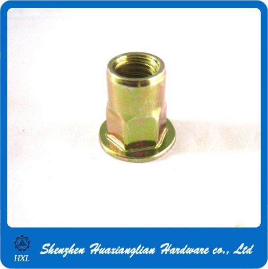 M3/M4/M5/M6/M8 Zinc Plated Steel Flat Head Pop Rivet Nut pictures & photos