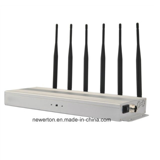 Desktop WiFi Jammer/GSM, CDMA 3G 4G Cell Phone Blocker Jammer 6-Band pictures & photos