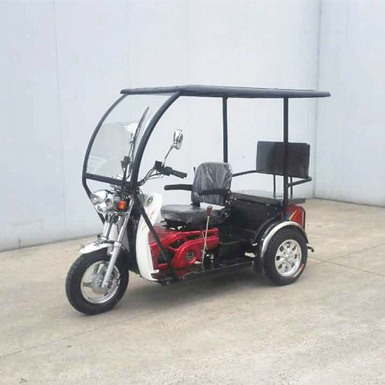 China 50cc 110cc 125cc Handicapped Trike Gas Bike With Roof China Passenger Tricycle 3 Wheel Motorcycle