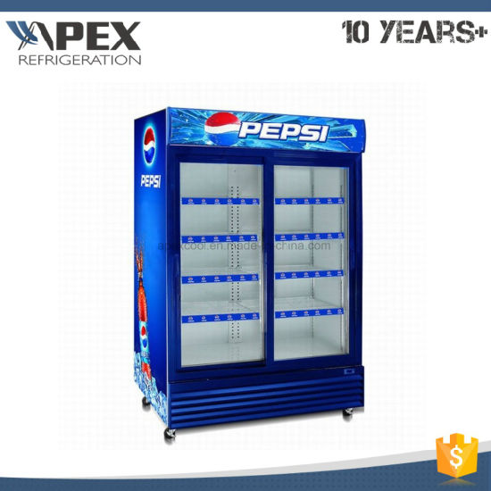 1400L Swing Doors Upright Cooler with America Style Ce, CB, ETL Approved pictures & photos