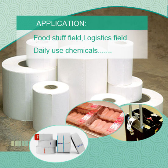 BPA Free Certified Heat Transfer Thermal Synthetic Paper for Barcoder