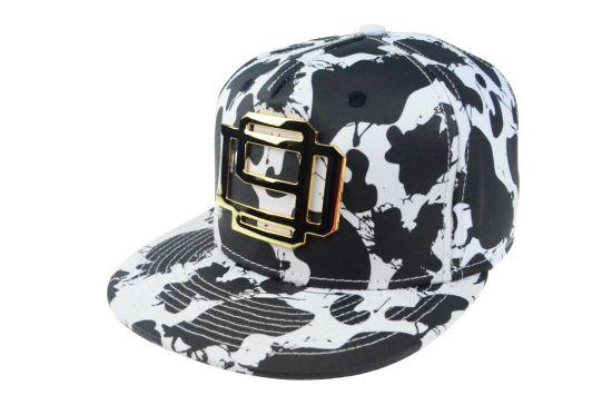 Custom Cap Floral 5 Panels Flat Brim Snapback Cap Hat
