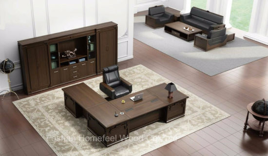 High Grade Modern Office Furniture Office Desk (HF-EJZ01D32) pictures & photos