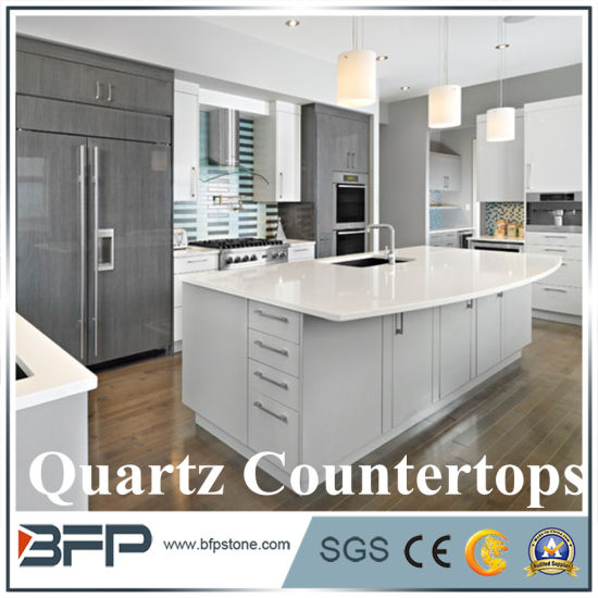 Quartz Countertop For Kitchen Cabinet Counter Top In Bullnose Edge Pictures Photos