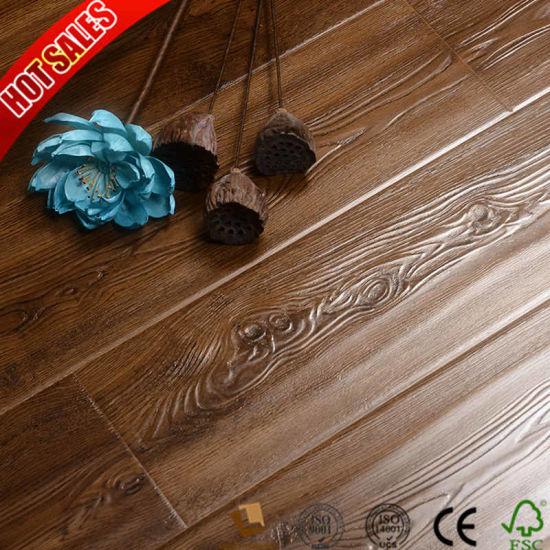 China 12mm U Groove Marble Laminate Flooring China Hardwood
