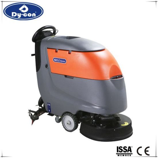 China SingleBrush Cable Typle Epoxy Floor Cleaning Machine For Hard - Hard floor mopping machine