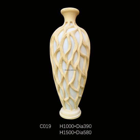 China Sandstone Vase Style Resin Led Light Sculpture For Home Or