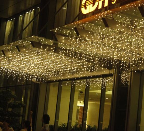 2016 Led Decoration Holiday Christmas Outdoor Twinkling Icicle Lights