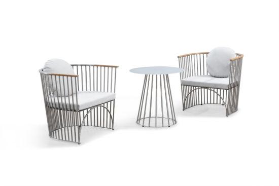 Stainless Steel Garden Sofa Outdoor Contract Chairs with Armrest - China Stainless Steel Garden Sofa Outdoor Contract Chairs With
