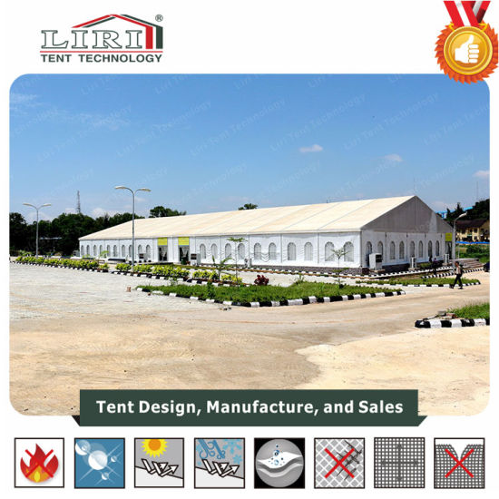 China 20x50 semi permanent event tent for church 1000 for Semi permanent tent