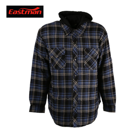 Cotton Flame Retardant Plaid Long Sleeve Shirt