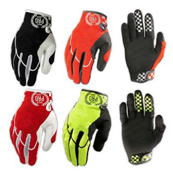 Black New Quality Full Finger Motorcycle Racing Sports Glove (MAG66) pictures & photos
