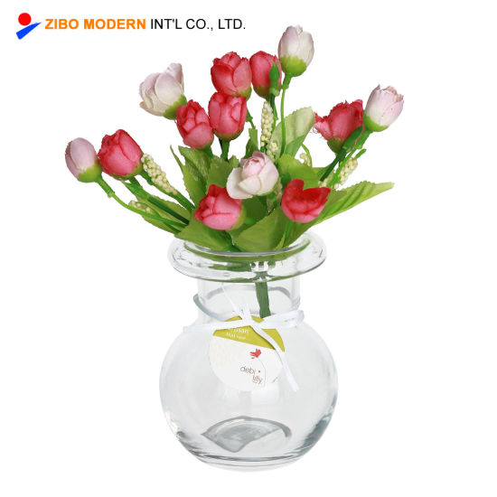 China Wholesale Cheap Clear Small Table Glass Flower Vases Wedding