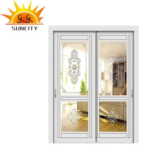 Luxury New Design Single Waterproof Glass Aluminum Doors