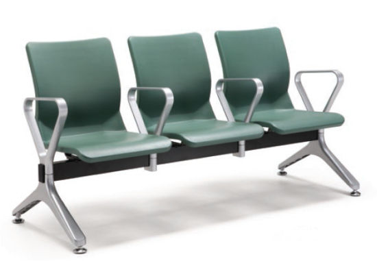 Durable Polyurethane PU Aluminum Waiting Chair in Public Area Like Airport Hospital H71