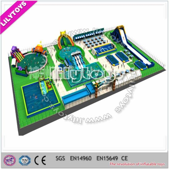China Metal Frame Swimming Pool Moving Water Park Equipment for Sale ...