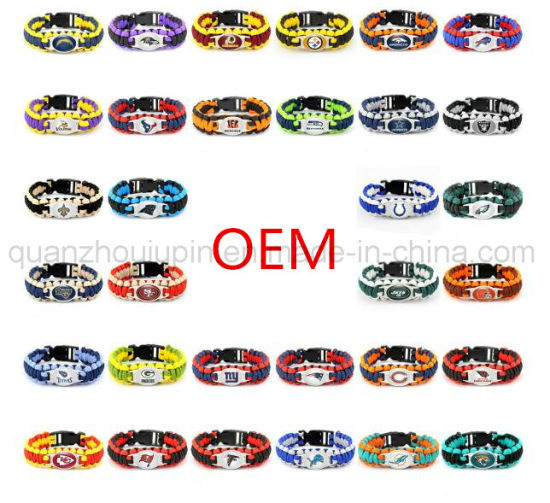 OEM Logo Advertising Outdoor Survival Parachute Rope Bracelet pictures & photos