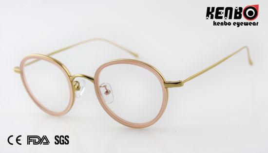 High Quality Metal Round Frame Optical Glasses CE FDA Kf5004