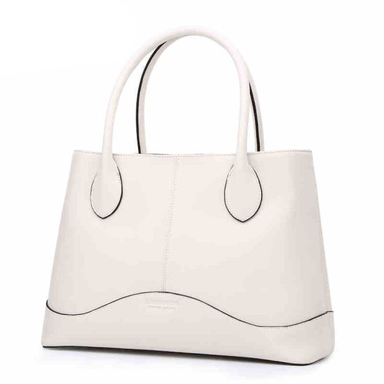 Wholesale Fashion Large Space Leather Custom White PU Ladies′ Handbag  (ZX10097) pictures   c4ca206f2e2a9