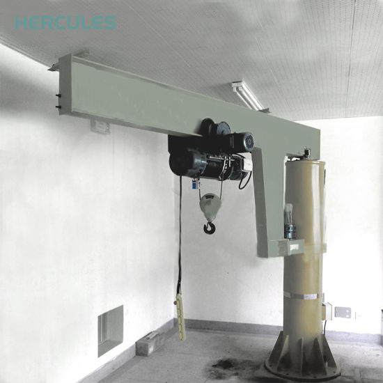 360 Degree 3 Ton Swing Level Jib Crane with Drawing pictures & photos