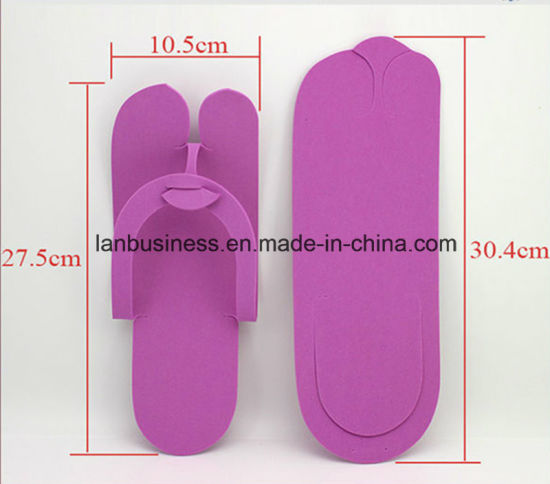 Disposable Colorful Print EVA Beach Slippers pictures & photos