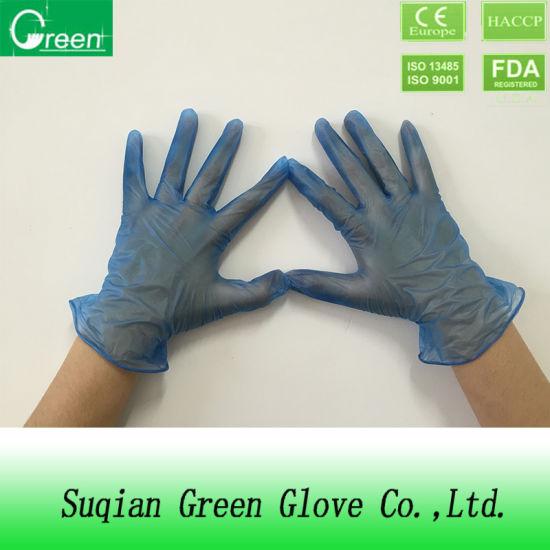 Disposable Examination Vinyl Blue Powdered PVC Glove