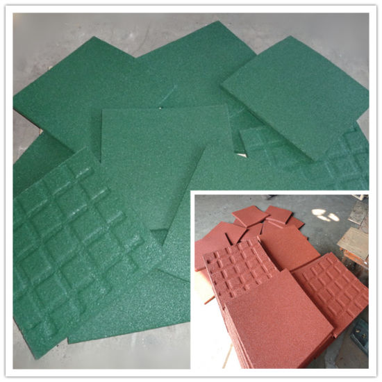 Colorful Rubber Flooring Tile, Sports Square Rubber Tiles pictures & photos