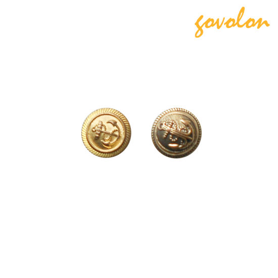 Embossed Round Button with Copper