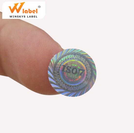 Factory Price Custom 3D Hologram Sticker Maker A4 Size Disposable Rainbow  Laser Label