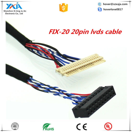 Fix-S6 30pin Lvds Cable 26cm Long 2CH 6-Bit 6 Bits 30 Pins Lvds Interface for 15 Inch TFT LCD 30p