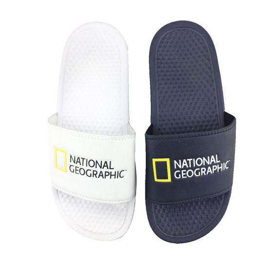 Custom Slipper Slides with Logo, Fashion EVA Nude Beach Slipper Shoes, New Foot Massage Slipper EVA