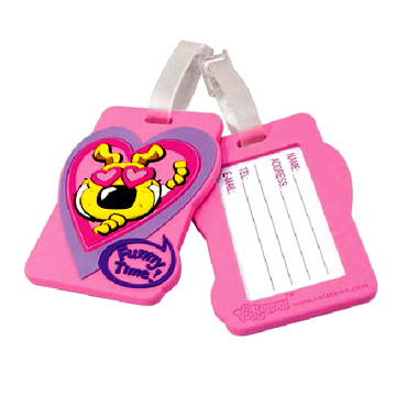 Cheap Price Custom Made Embossed Logo Silicone Luggage Tag Cheap PVC Baggage Claim for Sale with Custom Design