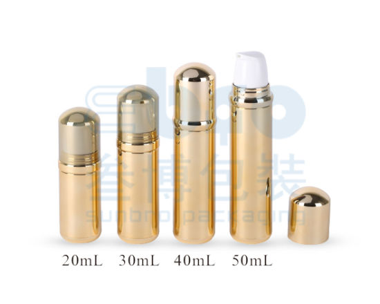 20ml/30ml/40ml/50ml Electroplating External Spring Plastic Cosmetic Packaging Airless Bottle.