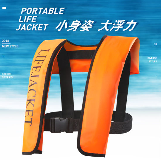 swimming Life Vest Fishing Life Jacket Automatic Inflatable Top Rescue Vest 15kg Buoyancy Kayak Women/Man Life Jacket