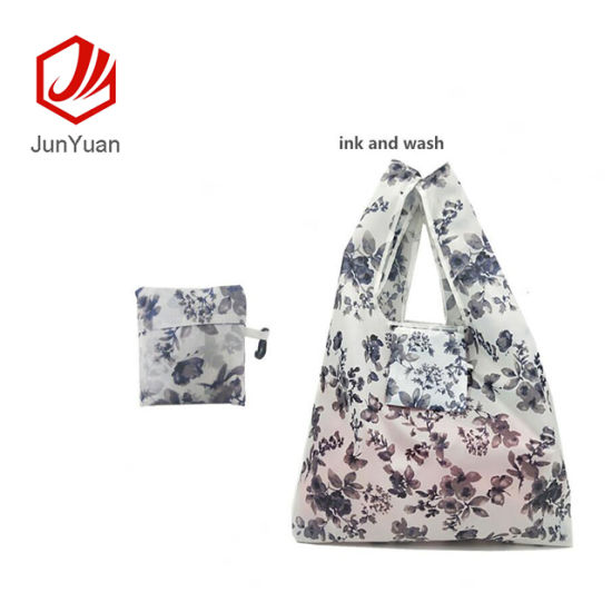 8080e21d0 China Foldable Reusable Grocery Bags 7 Cute Designs Tote Bag Fits in ...