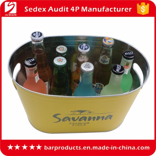 Promotional Metal Ice Bucket for Beer and Wine Bottles