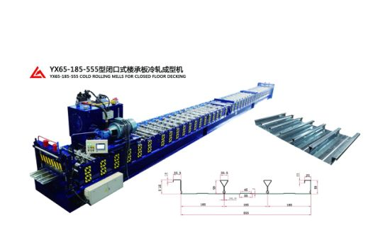 Full Automatic High Speed Floor Deck Roll Forming Machine with Ce/ISO9001