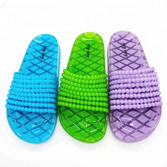 Wholesale Ladies Fancy Slide Sandals fashion Jelly Shoes pictures & photos