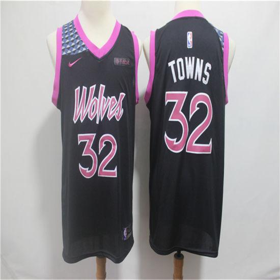 promo code 0160e 58db3 2019 Minnesota Timberwolves Karl-Anthony Towns Putian Replica Stitched  Basketball Jerseys